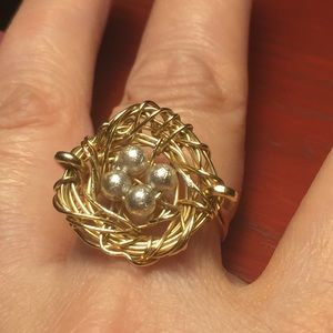 Jewelry - Nest Gold Tone Ring 5 1/2